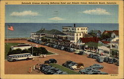 Rehoboth Avenue showing Bellhaven Hotel and Atlantic Ocean