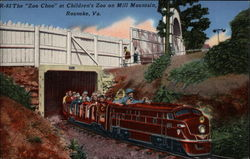 "The ""Zoo Choo"" at Children's Zoo on Mill Mountain"
