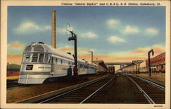 "Famous ""Denver Zephyr"" and C.B.&Q. R.R. Station"