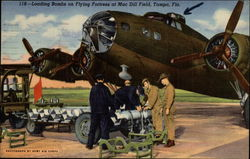 Loading Bombs on Flying Fortress at Macdill Field