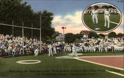 Waterfront Park: Watching the Kids and Cubs Three Quarter Century Ball Clubs Postcard