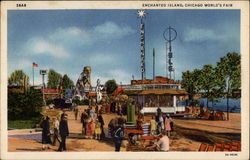 Enchanted Island, Chicago World's Fair Postcard