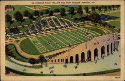 Foreman Field, William and Mary Stadium Postcard
