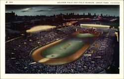 Soldier Field and Field Museum, Grant Park Postcard