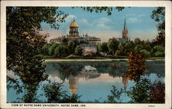 View of Notre Dame University Postcard