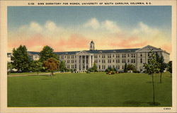 Sims Dormitory for Women, University of South Carolina Postcard