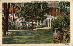 The Hanover Inn Terrace, Dartmouth College Postcard
