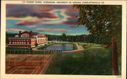 Sunset Scene, Gymnasium, University of Virginia