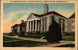 Administration Bldg. and Walter Reed Hall, Madison College