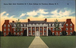 Pierce Hall, Girls' Dormitory, N.Y. State College for Teachers Postcard
