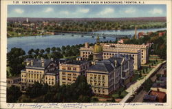 State Capitol and Annex Showing Delaware River in Background