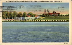 Looking Across Cooper River Showing Farnham Park and High School