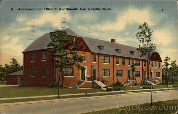 Non-Commissioned Officers' Apartments, Fort Devens, Mass Massachusetts
