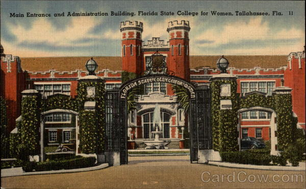 Main Entrance and Administration Building, Florida State College for Women Tallahassee
