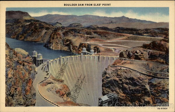 Boulder Dam From Elks' Point Boulder City Nevada