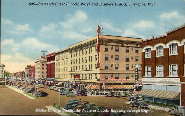 905-Sixteeth Street (Lincoln Way) and Business District Cheyenne Wyoming