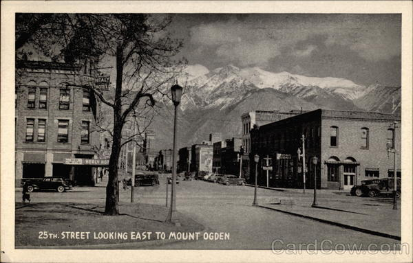 25th Street Looking East to Mount Ogden Utah