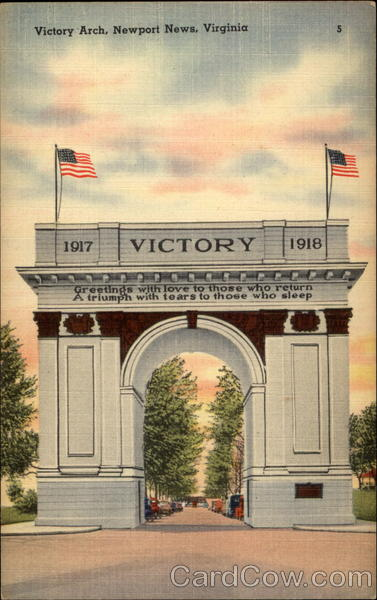 Victory Arch Newport News Virginia