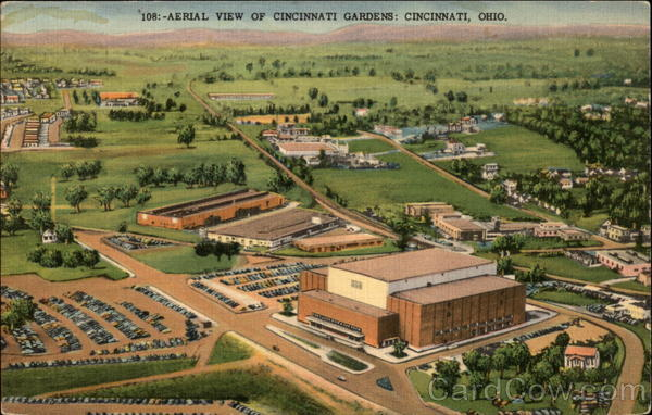 Aerial View of Cincinnati Gardens Ohio