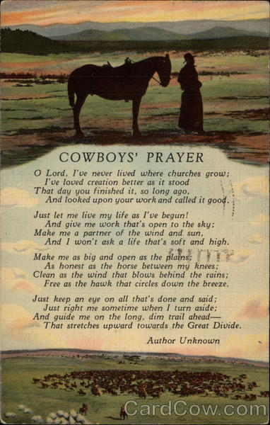 Cowboys' Prayer Cowboy Western