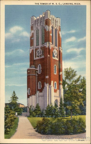 The Tower at M. S. C Lansing Michigan