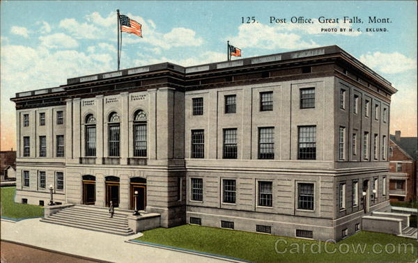 Post Office in 'The Cascade City' Great Falls Montana