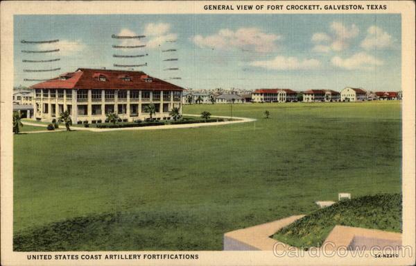 General View of Fort Crockett Galveston Texas