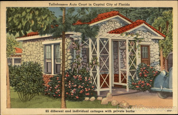 Talahassee Auto Court in Capital City of Florida Tallahassee