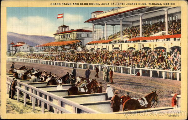 Grand Stand and Club House, Agua Caliente Jockey Club Tijuana Mexico