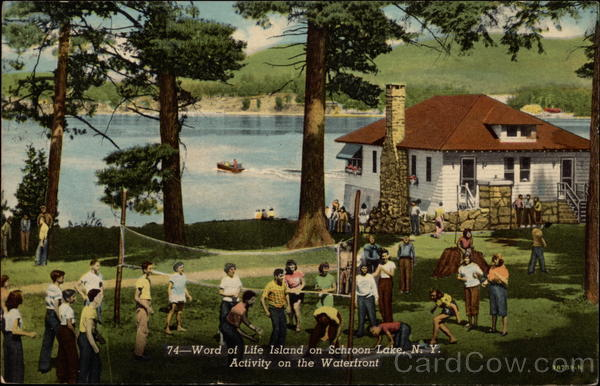 74-Word of Life Island on Schroon Lake, N.Y. Activity on the Waterfront New York