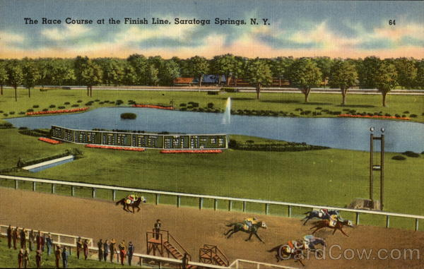 The Race Course at the Finish Line Saratoga Springs New York