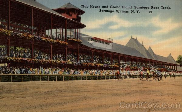 Club House and Grand Stand, Saratoga Race Track Saratoga Springs New York