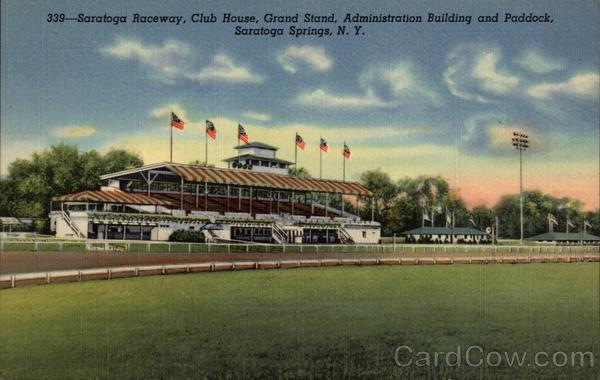 Saratoga Raceway, Club House, Grand Stand, Administration Building and Paddock Saratoga Springs New York