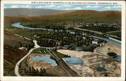 Bird's-Eye View of Thermopolis and Big Horn Hot Springs