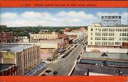 c-2629 Central Avenue and View of Great Falls, Montana
