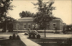Post Office, Natick, Massachusetts Postcard