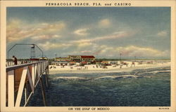 Casino on the Gulf of Mexico Postcard