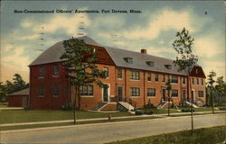 Non-Commissioned Officers' Apartments, Fort Devens, Mass Postcard