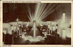 The Esplanade at Night at Texas Centennial Exposition