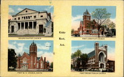 Second Baptist Church, First Christian Church, First M.E. Church, South, First Presbyterian Church