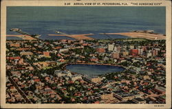 Aerial View of 'The Sunshine City' Postcard