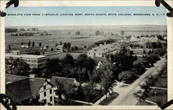 Birds-Eye View From Campanile, Looking West, Sourth Dakota State College, Brookings, S.D