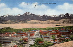 Livingston, Montana and Absaroka Mountains