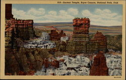 Ancient Temple, Bryce Canyon National Park Postcard