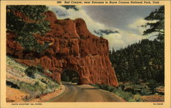 Red Canyon, near Entrance Postcard
