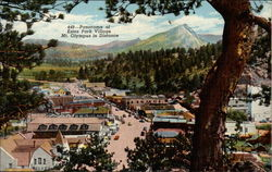 Estes Park Village with View of Mt. Olympus