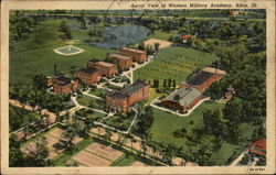 Aerial View of Western Military Academy Postcard