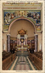 Exposition Altar of Perpetual Adoration Shrine Postcard