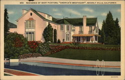 "Residence of Mary Pickford, ""America's Sweetheart"""