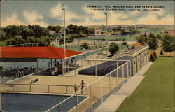 Swimming Pool, Wading Pool and Tennis Courts, McLain Rogers Park